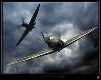 3d model super spitfire fighters