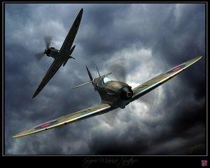 3d model super spitfire fighters