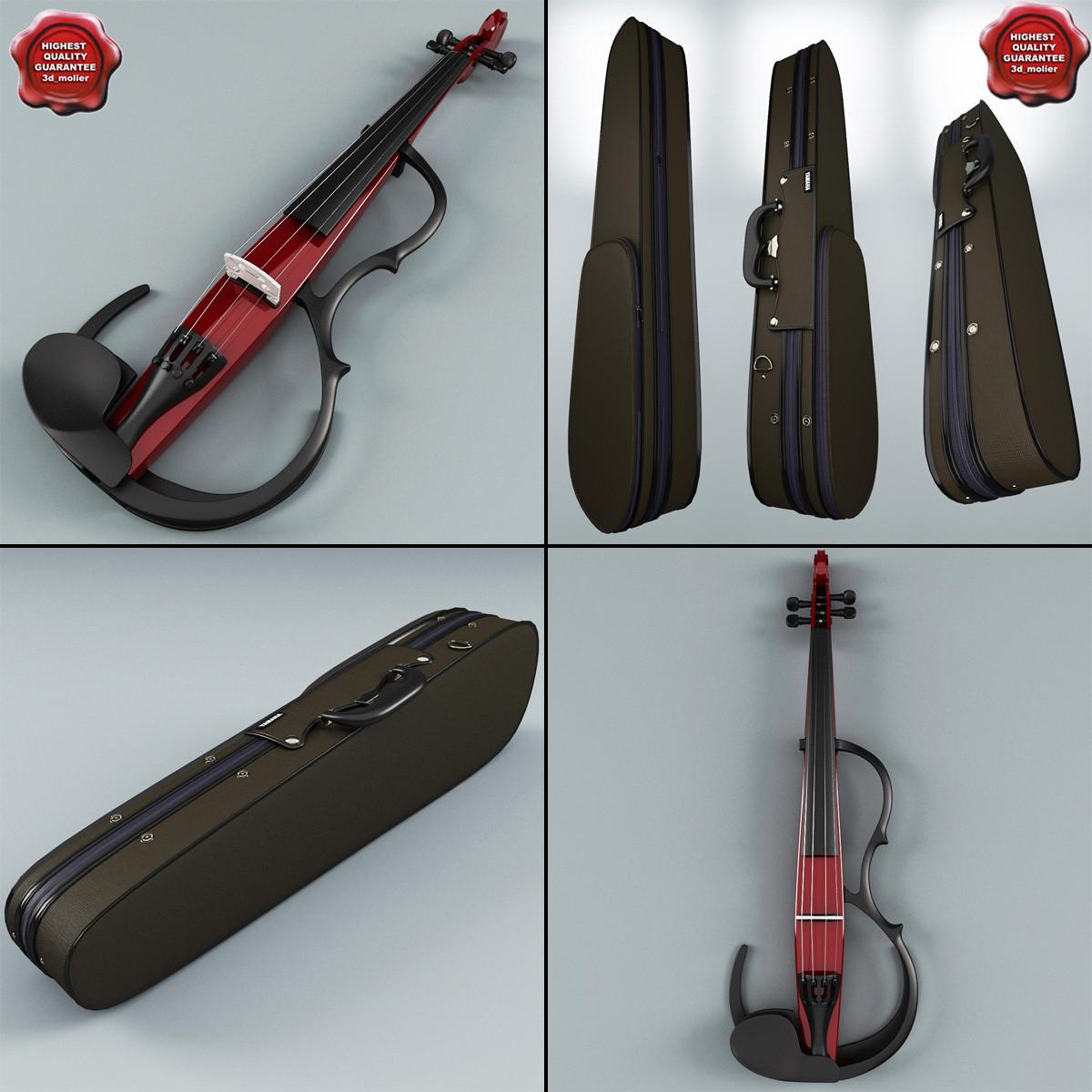 violin case yamaha 3d model