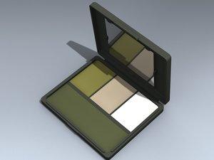 3d camouflage face paint compact model