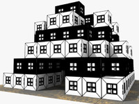 comic house games 3d model
