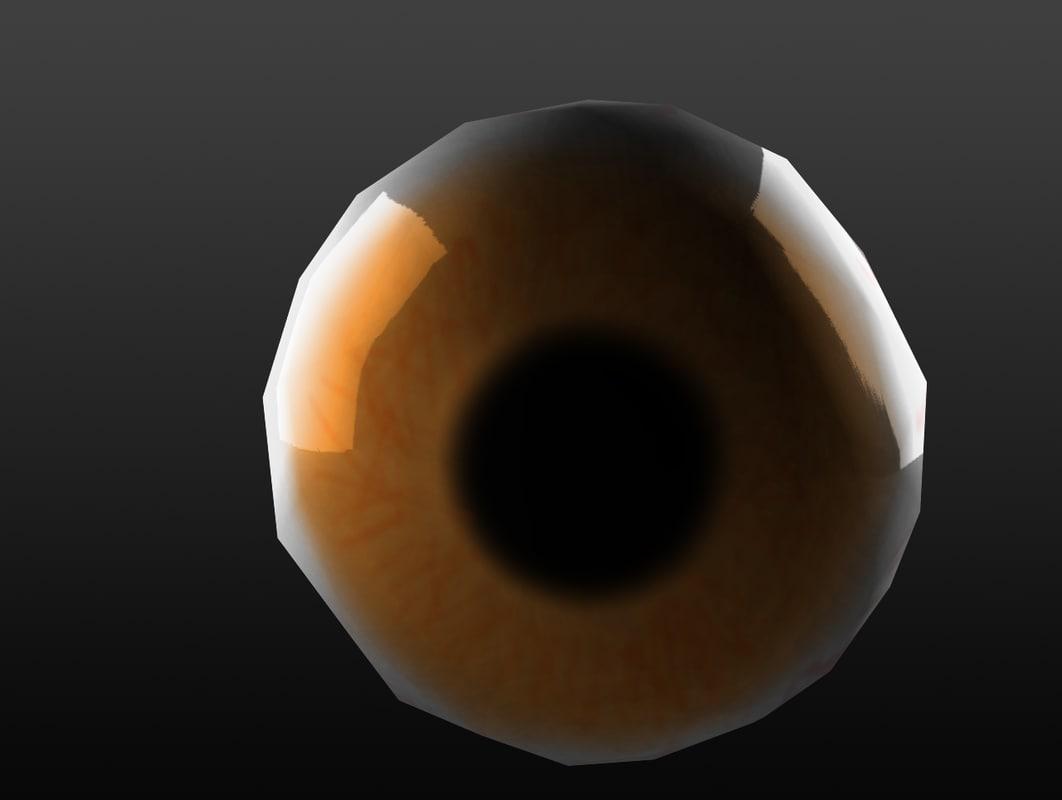 free low-poly eye 3d model