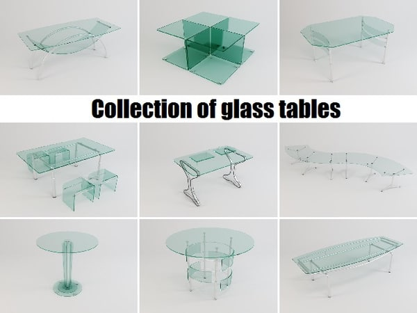 glass tables 3d model