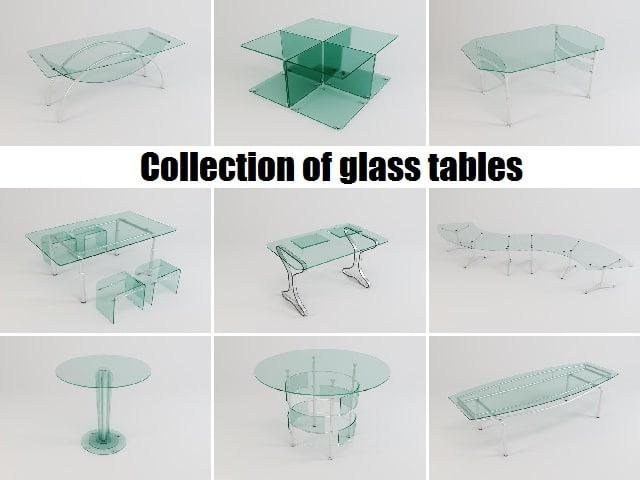 glass tables 3d model
