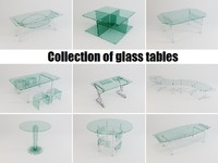 Collection of glass tables