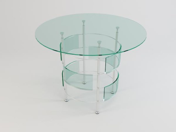 3d model glass table 08