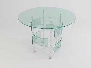 3d model glass table 08