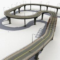 bridges road track 3d max