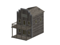 free max model western style house
