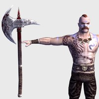 picto warrior character 3d 3ds