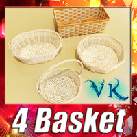3d 4 wicker basket resolution