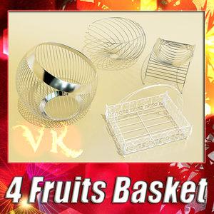 3d 4 fruit basket model