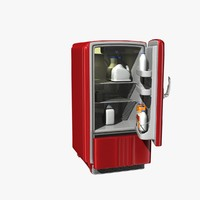old style refrigerator 3d max