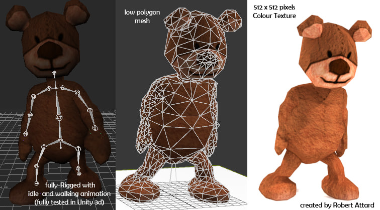 free fbx mode teddy bear