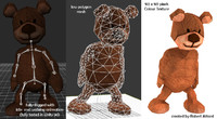 free fbx mode teddy bear