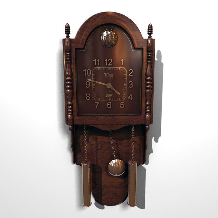 clock wall pendulum 3d model