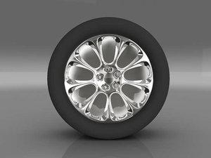 car tyre 3d max