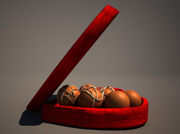 chocolate box 3d max
