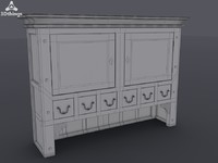 3d stand closet model