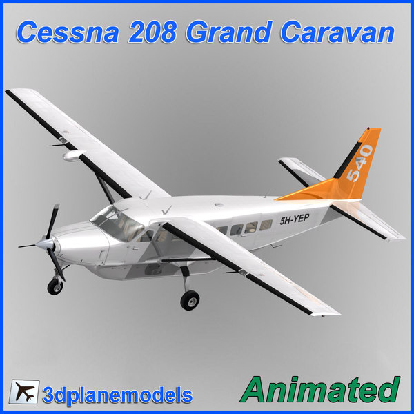 3d model cessna 208 caravan grand