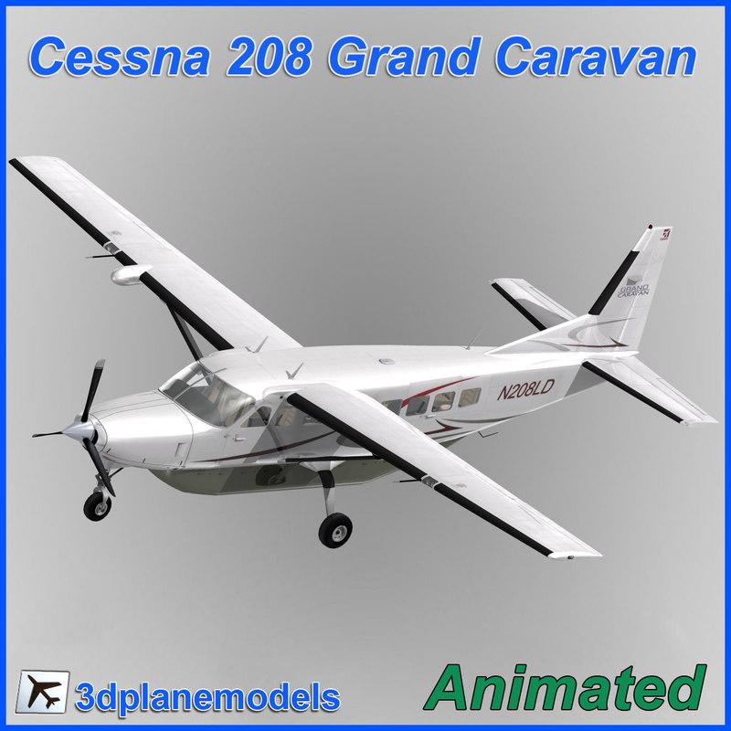 3d cessna 208 caravan grand
