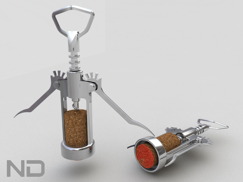 3d model cork screw