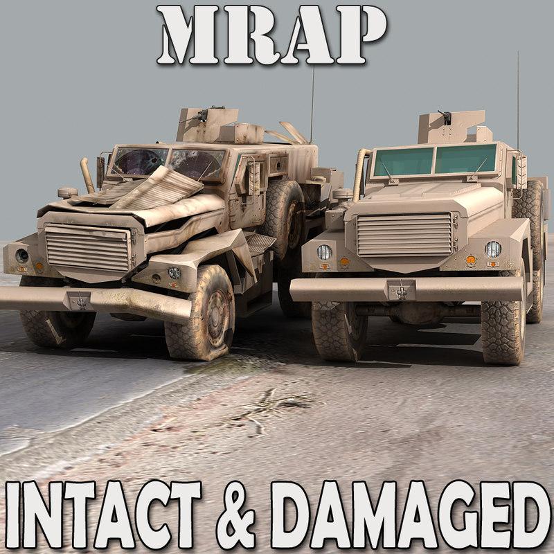 3d mrap damaged arab model