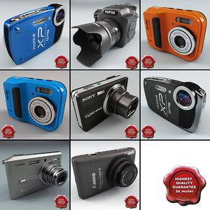 digital cameras v6 3d obj