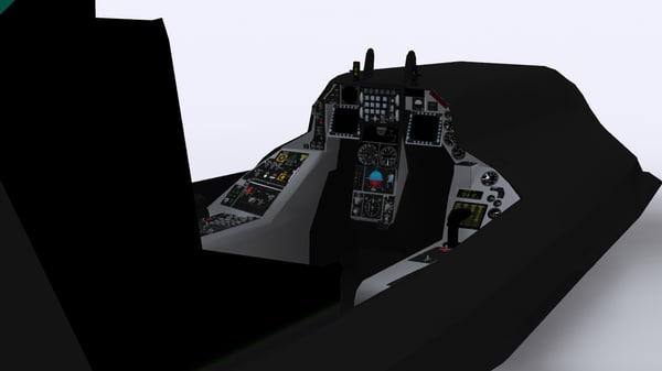 3d f16 cockpit model