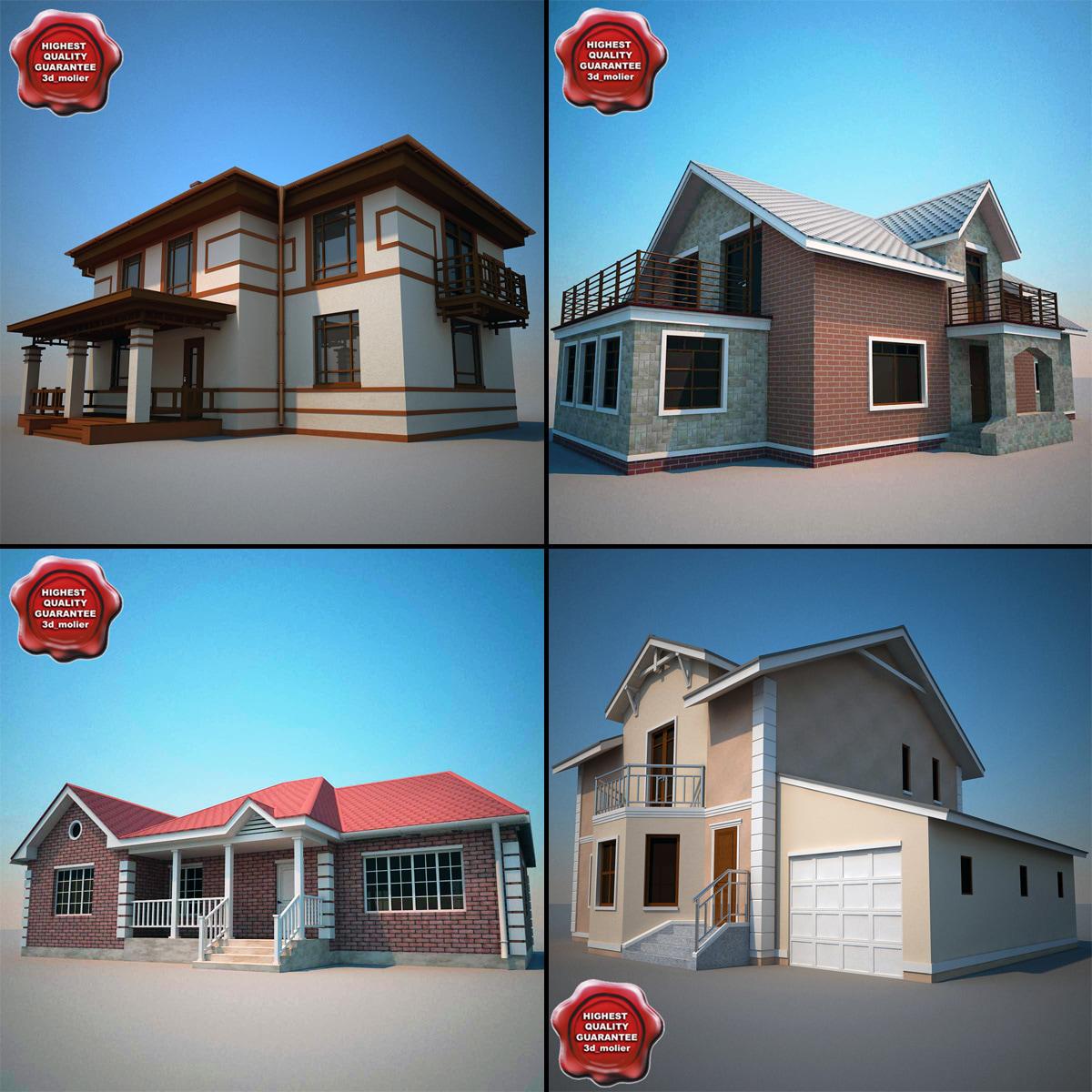 houses v1 3d model