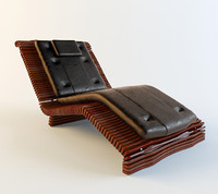 3d lounge luxor chaise model