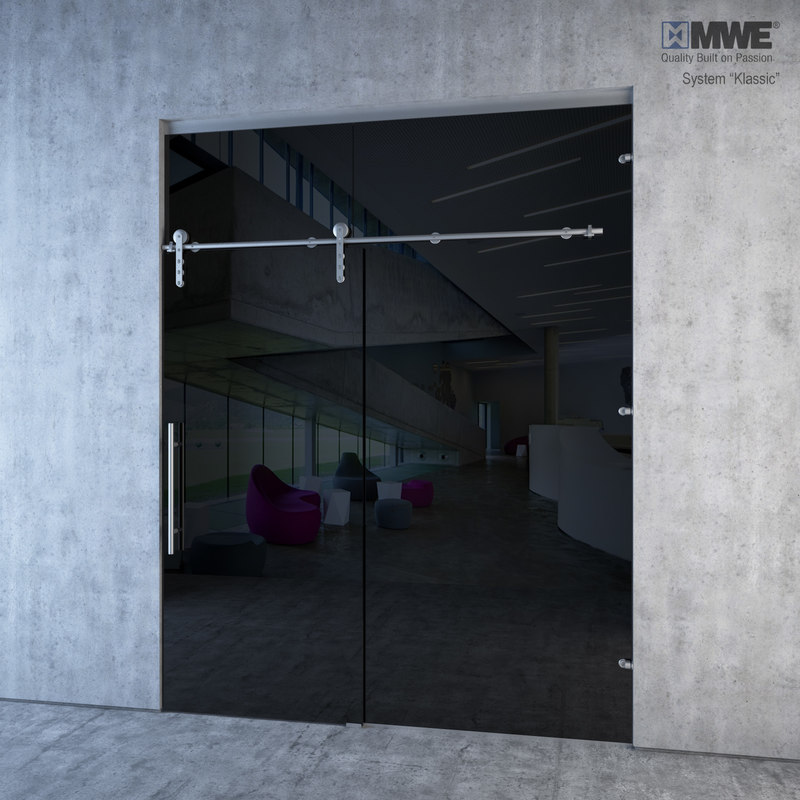 glass sliding doors mwe 3d model