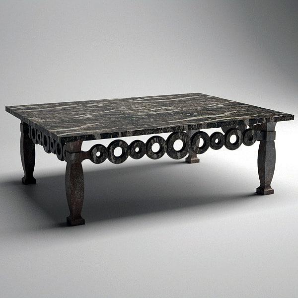 3d model o rectangular cocktail table