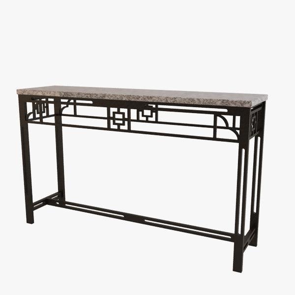 3d model of console dresser contemporary