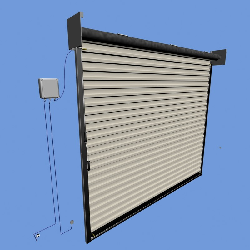3ds max garage roller shutter