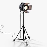 realistic vintage spot light dxf