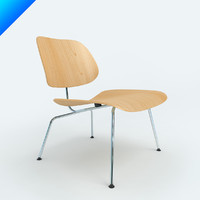 chair charles eames plywood 3d model