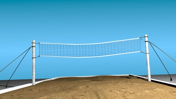 3d beach volley ball model