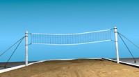 3d beach volley ball model