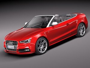3d model audi s5 convertible sport