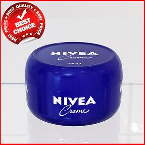 3d model cosmetic cream