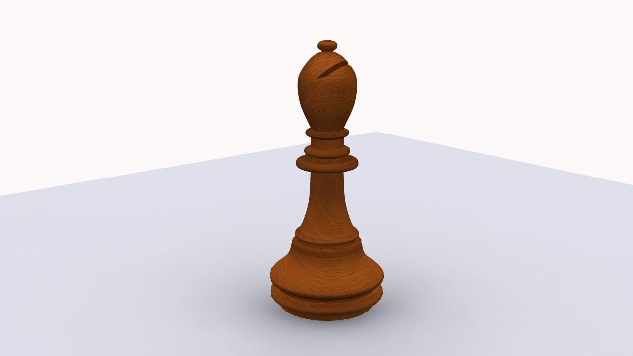 free chess bishop 3d model