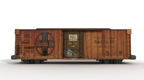 3d box car model
