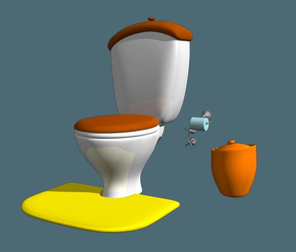 cartoon wc 3d xsi