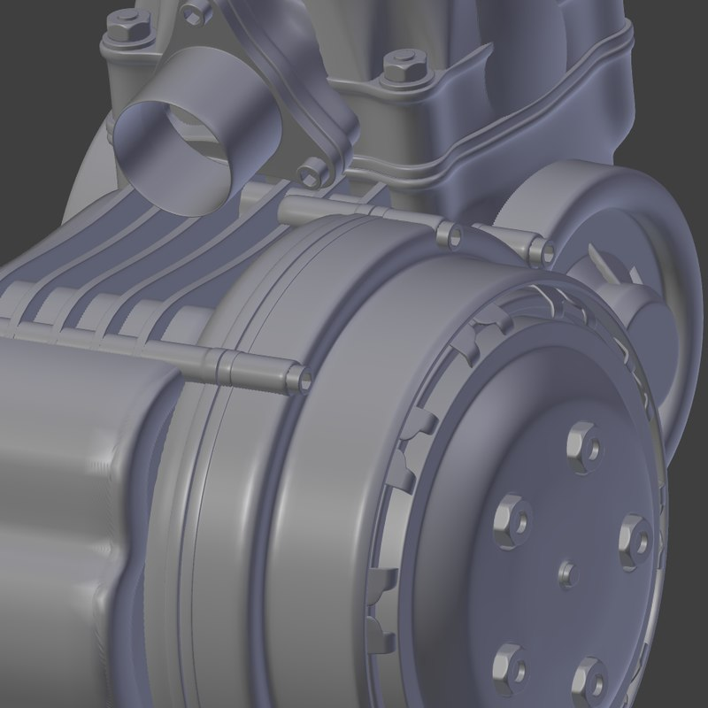 racing kart engine 3d model