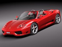 3ds max ferrari 360 spider convertible