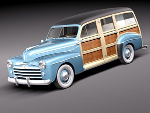 1948 woody wood station wagon 3ds