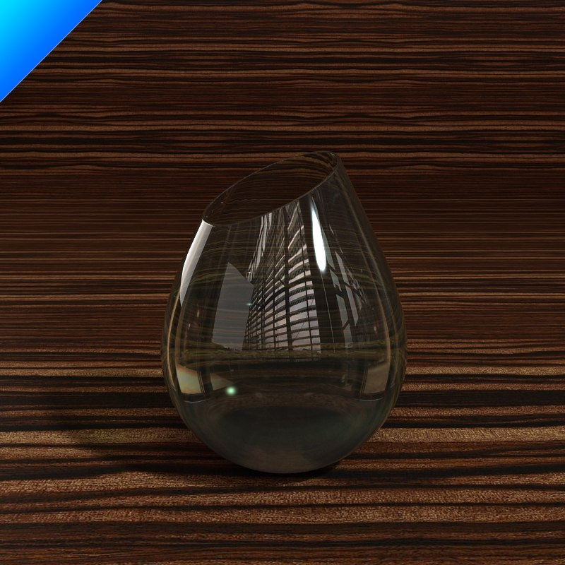 3ds glass vase