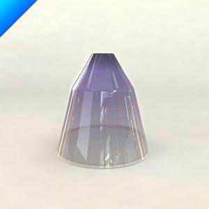 3d glass vase model
