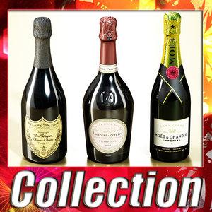 max 3 champagne bottles